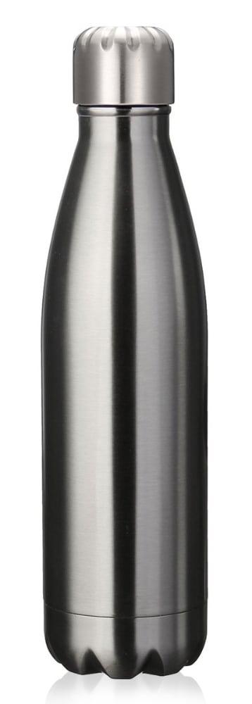 Produits inox : bouteille en inox gris sidéral  sous fond blanc